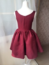 Dressromantic Sleeveless Thick Fit and Flare Dress- burgundy,petite image 3