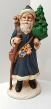 Ceramic Hand painted Santa Clause Signed & Dated 1991 Solid Cast - $10.95