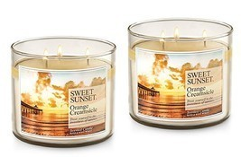 2 Bath & Body Works Sweet Sunset Orange Creamsicle 3 Wick Scented Candle... - €37,74 EUR