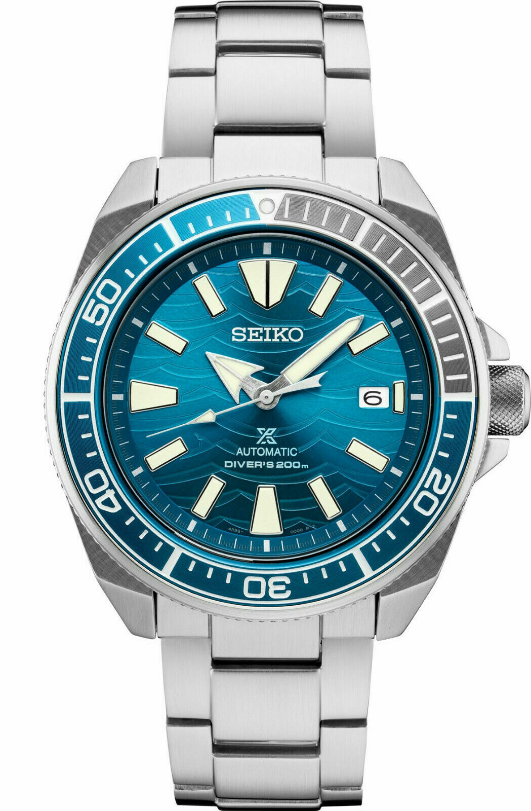 Primary image for Seiko Automatic Prospex Samurai Blue Wave Divers 200M Men's Watch SRPD23