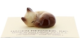 Hagen-Renaker Miniature Cat Figurine Siamese Kitten Sleeping Chocolate Point