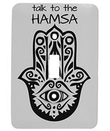 Talk to The Hamsa Yoga Design Single Toggle Metal Light Switch Cover - $9.26
