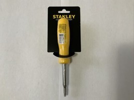 STANLEY 6 in 1 Screwdriver 3 Inch Driver Yellow CHN STHT60048 Brand New - $13.99