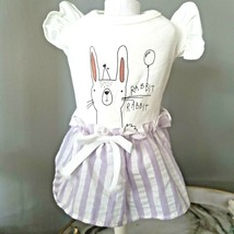 S Yorkie Tea Cup Puppy Bunny Easter Chihuahua Cute Lavender Skirt Dress - $16.99