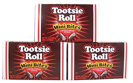 Tootsie Roll Mini Bites Candy Coated Chews Movie Theater Box, 3.5 oz Pack of 3 - $15.89