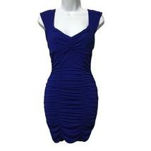 Forever 21 Women's Blue Mini Dress Short Bodycon Cocktail V-neck Sleevel... - $25.99