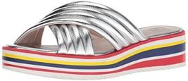 Nine West Women's Zonita Synthetic Flat Sandal (6.5 Silver) - $35.95
