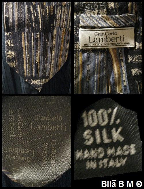 Gian Carlo LAMBERTI - 100% ITALIAN Silk Tie - HANDMADE - Free Shipping image 2