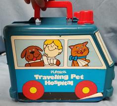 Vintage 1976 Playskool Traveling Pet Hospital w/ Accessories Animals Toy... - $29.57