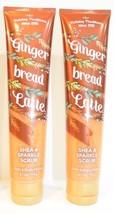 2 Bath & Body Works Holiday Ginger Bread latte Shea & sparkle Scrub 6.1 oz NEW - £13.80 GBP