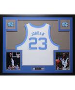 Michael Jordan Autographed Jersey Framed NC Tarheels $1495 - $1,495.00