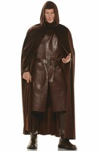 Underwraps Deluxe Hooded Cape Renaissance Adult Mens Halloween Costume 28540 - $23.99