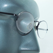 Petite Semi Frameless Bottomless Hint Of Tint Black Frame +1.00 Reading Glasses - $22.00