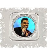 George Michael, Square Glass Coaster Gift, Limited Edition | Cellini Pla... - $12.82