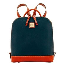 Dooney & Bourke Pebble Grain Zip Pod Backpack Black/Tan