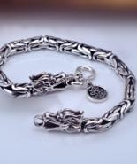Dragon bracelet, silver bracelet, silver dragon bracelet (B225) - $96.99