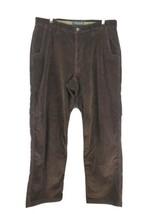 Mt Khaki Corduroy Pants Mens Sz 35x32 Brown Relaxed Straight Stretch (i1)  - $26.99