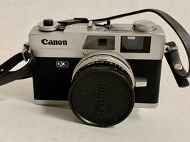 Vintage CANON QL 17 FILM CAMERA 40mm 1:1.7 Lens Leather Case Quick Load ... - $296.99