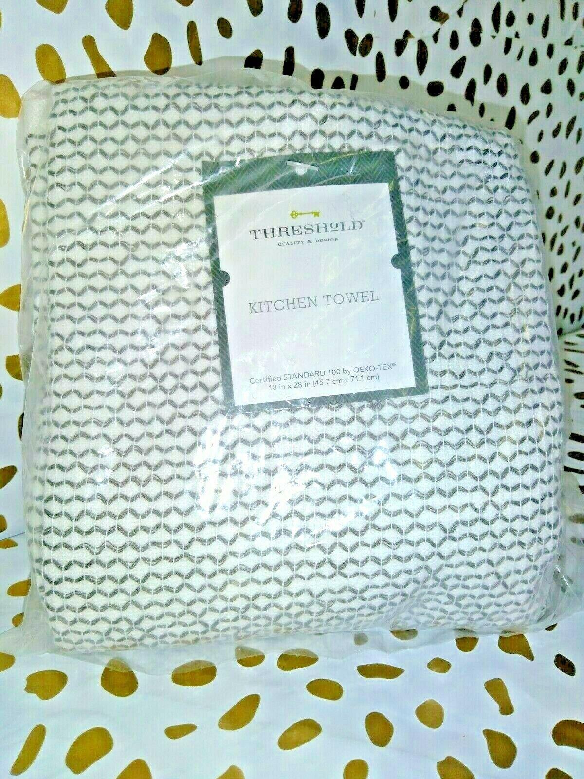Dobby Terry Kitchen Towel Gray 18'' X 28'' - Threshold    - new !  STORE