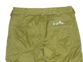 Burton Sweetart Cargo Pants Girls Snowboard Ski Waterproof Insulated Olive XL 18 image 3