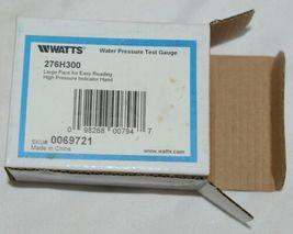 Watts 3/4 Inch 276H300 Water Pressure TestGuage Large Face image 4