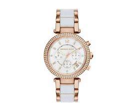 NWT Michael Kors Women's White Mini Parker St Steel Bracelet Watch MK6261 - $129.99