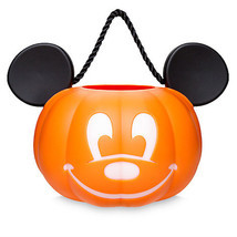 Disney Parks Mickey Pumpkin Halloween Light Up Trick or Treat Bucket New... - $25.64