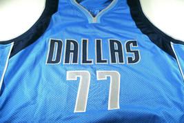 LUKA DONCIC / AUTOGRAPHED DALLAS MAVERICKS BLUE CUSTOM BASKETBALL JERSEY / COA image 2