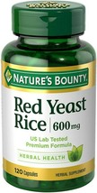 Red Yeast Rice 600mg 120 Capsules By Nature's Bounty Exp 2022+ Sealed Free Ship - $14.83