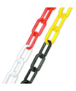 Plastic Chains 10mm x 10M (Pack of 5) Alternating Yellow & Black or Red ... - $312.96