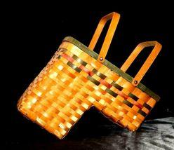 Double Handled Swing Basket Handmade AA19-1577 Vintage image 3