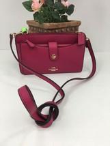 Coach Messenger Bag Pop up Pouch Crossbody Pink Fuschia  53529 B12 - $108.89