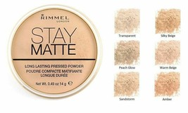 BUY 1 GET 1 AT 20% OFF (Add 2) Rimmel Stay Matte Long Lasting Pressed Po... - $7.46+
