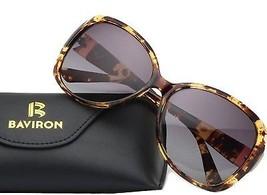 BAVIRON Womens Butterfly Sunglasses Oversized Marbles Polarized UV400 Glasses - $52.96