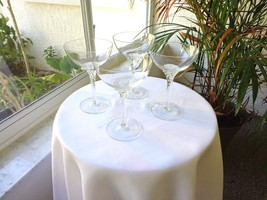 Set of 4 Twisted Stem Clear Crystal Champagne Glasses, Unbranded - $29.70