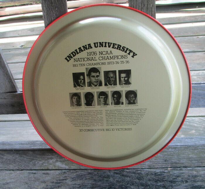 Coca-Cola Commemorative Tray Indiana University 1976 NCAA Basketball Champs image 5