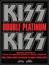 "KISS Band Stand-Up Display Album Advert For 1978 ""DOUBLE PLATINUM"" Album... - $16.99"