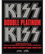 """KISS Band Stand-Up Display Album Advert For 1978 """"DOUBLE PLATINUM"""" Album... - $16.99"""