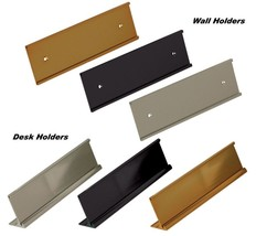 Office Name Plate Holders for 2x10 Wall Mount or Desk Top Name Plates - €4,46 EUR