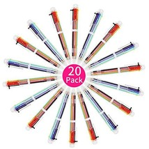 WIWAPLEX 20 Pack Multicolor Ballpoint Pens, 0.5mm 6-in-1Retractable Ball... - $11.63