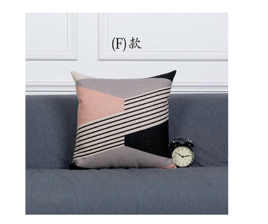 Cushion Cover Decorative Pillows Case Gray Geometric Cushions Covers Home Decor