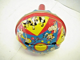 Circus Party Small Red & Blue Sphere Noise Maker by US Metal Toy MFG.CO. - $12.86