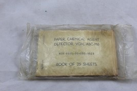 Paper Chemical Agent Detector VGH Book of 25 Sheets ABC-M8 1975 Knowlton... - $14.99
