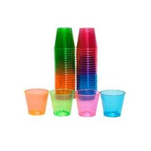 Party Essentials N15090 Hard Plastic Shot Glass, 1 oz. Capacity, Assorte... - $63.04
