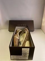 Gucci Womens Ballet Flats Shoes Brown Jaquard Horsebit Signature Slip On EU 39 M - $173.24