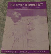 Vintage Sheet Music - The Little Drummer Boy - 1958 Edition - VGC - K. D... - $4.45