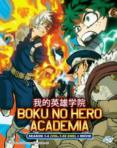 Boku No Hero Academia Season 1-4 DVD Vol.1 - 88 end + Movie English Dubbed USA