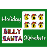 Holiday Alphabets Silly Santas and Holly Bells - $1.75