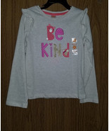 """Gymboree Girls Cotton, Long Sleeves """"Be Kind"""" Tee, Size 5T(US)  NWT - $12.86"""
