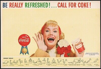 Primary image for Vintage sports program COCA COLA Be Really Refreshed woman pic Fred Fixler art